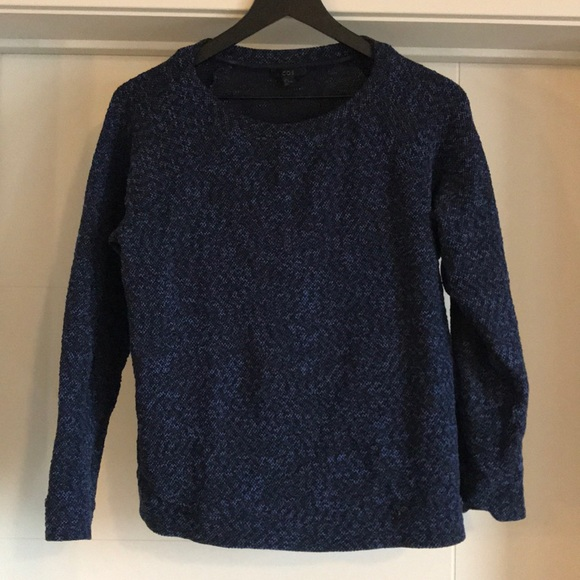 COS Blue and black knit top